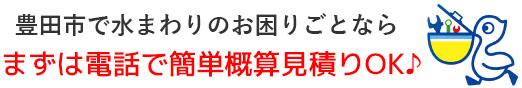 豊田市 トイレつまり・排水つまり・水漏れ修理なら